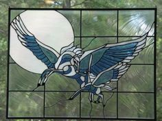 Pegasus and Foal Stained Glass