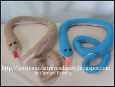 tutorial cobras de feltro
