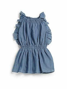 Chlo? Infant's Ruffled Chambray Dress