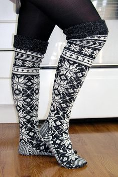 Winter Socks 7 by janiegrl, via Flickr These are amazing... but I don't know that I would have the patience to do them.