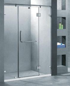 frameless glass shower w/ header