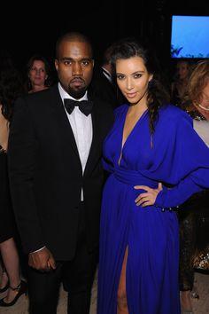 Kim Kardashian and Kanye West at NYC's Angel Ball
