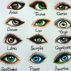"""Laura Mary """"I drew the signs as eyes Double tap yours and comment if your eye is like your sign❤Hope you like it☺"""" 2020 homme ideal ideal sternzeichen verseau vierge zodiaque Zodiac Signs Chart, Zodiac Signs Sagittarius, Zodiac Star Signs, Zodiac Horoscope, My Zodiac Sign, Horoscopes, Taurus, Cancer Zodiac Art, Aquarius Astrology"""