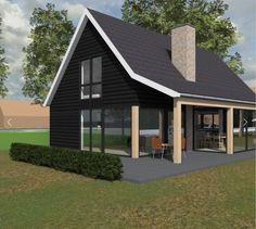 Prefab Cottages, Cabins And Cottages, Tiny House Cabin, Tiny House Design, House Roof, Facade House, Metal Building Homes, Building A House, Casa Loft