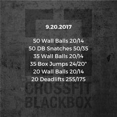 """98 gilla-markeringar, 4 kommentarer - CrossFit Black Box (@crossfitblackbox) på Instagram: """"Wednesday, September 20th, 2017. Scale as needed. . . . #CrossFitBlackBox #BlackBoxStrong #CFBB"""""""