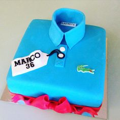 Lacoste t-shirt polo cake fondant - happy birthday Marco