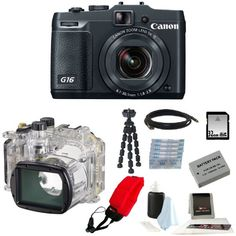 Special Offers - Canon PowerShot G16 Digital Camera with Canon Waterproof Case WP-DC52 for PowerShot G16 and 32GB Deluxe Accessory Kit - In stock & Free Shipping. You can save more money! Check It (May 30 2016 at 06:55PM) >> http://wpcamera.net/canon-powershot-g16-digital-camera-with-canon-waterproof-case-wp-dc52-for-powershot-g16-and-32gb-deluxe-accessory-kit/