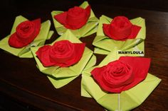 "Pliage+de+serviette+""rose"""