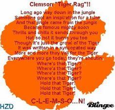 Clemson Tiger Rag Lyrics..