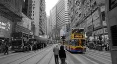 Public transportation is crucial for city growth - Agus Chang. A photoessay of Hong Kong in Monomat, a black and white photography medium by think archipelago. Environmentalist, Concrete Jungle, Archipelago, Public Transport, Black And White Photography, Hong Kong, Transportation, To Go, Street View
