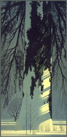 "Texture, light ""Snow White"" - Eyvind Earle - 1992"