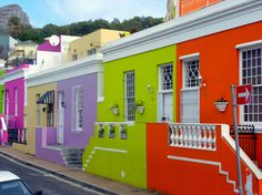 bo-kaap, south africa / I have been on that excact spot seeing those houses. The colours are amazing.