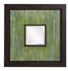 Monet Painted Canvas Wall Mirror