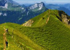 Kingenstock path Switzerland