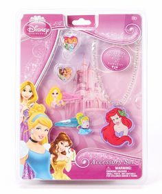 Disney Princess Jewelry/Accessory Giftset ~ New/Sealed!! Necklace, Rings & Clips #Disney