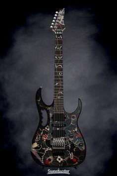 ✅ Inspection and ✅ Financing for your Ibanez Steve Vai Signature Blue Floral Pattern! Ukulele, Guitar Rig, Ibanez Electric Guitar, Guitar Photos, Steve Vai, Guitar Painting, Light Music, Custom Guitars, Guitar Design