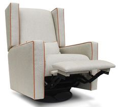 Jennifer Delonge Wing Recliner - cool colors/piping.