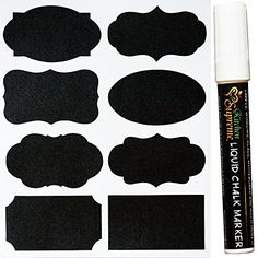 Complete Bundle of 40 Unique Chalkboard Labels with Liquid Chalk Marker - Premium Stickers for Jars Kitchen Supreme http://www.amazon.com/dp/B00MN4VRG2/ref=cm_sw_r_pi_dp_oCM.ub0TD8BTA