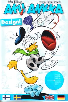 Finland - Aku Ankka (A special 4 language edition: Finnish, Swedish, English and German Scanned image of comic book (© Disney) cover