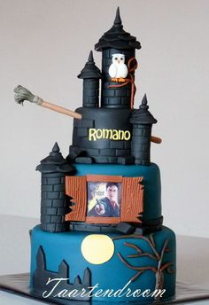 """Mijn eerste Harry Potter taart... (Pagina 1) - Bruids- en Stapeltaarten - Het """"DeLeuksteTaarten"""" - forum"""