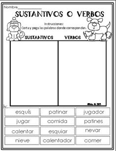 Winter Literacy Packet in Spanish Dual Language Classroom, Bilingual Classroom, Bilingual Education, Spanish Classroom, Spanish Worksheets, Spanish Teaching Resources, Spanish Activities, Learning Activities, Spanish Lesson Plans
