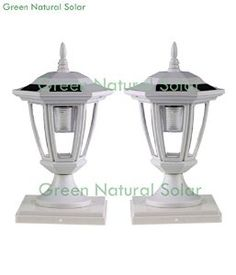 2-Pack WHITE Solar Hexagon Post Cap Lights with WHITE LEDS for 5X5 Fence Post Wood Fence Post, Fence Posts, Solar Yard Lights, Material For Sale, Energy Efficient Lighting, Solar Battery, Pvc Vinyl, Building Materials, Solar Panels
