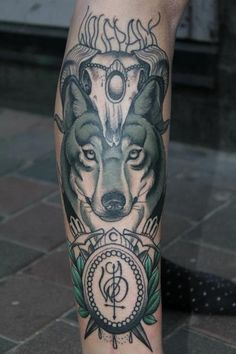 Wolf and aries skull