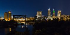 Cleveland Nightscpae Panoramic by Dale Kincaid