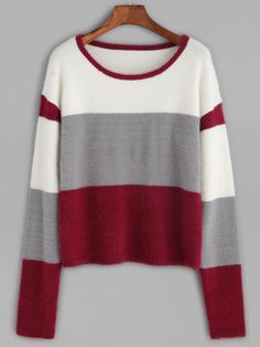 Shop Color Block Fluffy Sweater online. SheIn offers Color Block Fluffy Sweater & more to fit your fashionable needs.