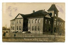 1909 Real Photo Postcard Kenwood School Enid Oklahoma in Collectibles, Postcards, Real Photo | eBay