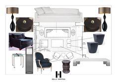 Studio Hoppen - Kelly Hoppen Interiors Constituer une ambiance à partir d'un plan. Rendre le plan ou le package vivant