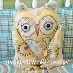 BWinks Stuffed Owl Pillow