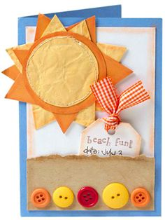 Crumple Your Papers...great for beach party invite.