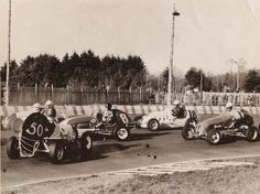 50-Larry Shurter 4-Tony Bonadies 8-Ted Tappett 18-Rex Records http://perrisautospeedway.com #autospeedway #speedway #attractions