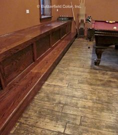 Achieve the rustic look of wood flooring with Butterfield Color® concrete stamps. Stamped Concrete Colors, Concrete Wood, Concrete Patio Designs, Concrete Projects, Wood Patterns, Wood Planks, Hardwood Floors, Living Spaces, Indoor