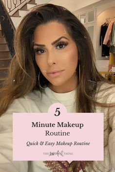 My 5 Minute Make-Up Routine! This a quick & super simple routine that you can use if you are just staying around the house and wanting to still put on some makeup to make you feel good! | Beauty | Emily Ann Gemma, The Sweetest Thing Blog Beauty Tips For Skin, Best Beauty Tips, Beauty Hacks, Best Skincare Products, Beauty Products, Laura Mercier Bronzer, Makeup Tips, Hair Makeup, Light Makeup Looks
