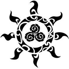 Tribal Sun Tattoos | Tribal Celtic Triskell Sun Tattoo | Tattoo Tabatha
