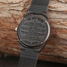 Great Gifts For Son Engraved Wooden Watch Bday Gifts For Him, Surprise Gifts For Him, Thoughtful Gifts For Him, Romantic Gifts For Him, Gifts For Fiance, Love Gifts, Great Gifts, Diy Gifts, Special Gifts