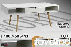 MOBILE PORTA TV MODERNO Living TAVOLINO H43*100*50 BIANCO LEGNO
