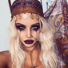 Maquillaje Halloween Mujer Ideas Que Le Convertiran En El Centro - Maquillaje-de-pirata-para-mujer