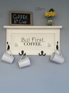 21 DIY Coffee Racks To Organize Your Morning Cup of Joe                                                                                                                                                                                 More