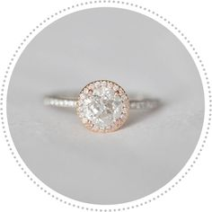 vintage style engagement ring, rose gold ...