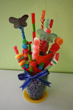 Candy Arrangement  <> fun!!! A trip to The Sweet Factory for 'supplies'  :-D