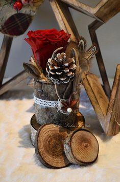 Noël Rose Rouge et Bois