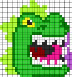 Godzilla Perler  Perler Bead Pattern / Bead Sprite