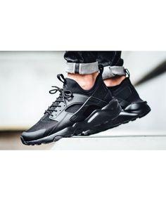best value cf8f4 9bf5c Chaussure Nike Huarache Ultra Cuir Tripler Noir Nike Huarache, Cheap Nike,  Huaraches, Baskets