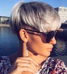 Looks For Short Hair : Madeleine SchÃn Short Hairstyles 1 Short Wedge Hairstyles, Short Haircut Styles, Cute Short Haircuts, Funky Hairstyles, Short Hairstyles For Women, Hairstyle Short, Medium Hairstyles, Hairstyles Haircuts, Hairstyle Ideas