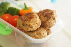Minifrikadeller til madpakken Grains, Muffin, Rice, Breakfast, Food, Morning Coffee, Essen, Muffins, Meals