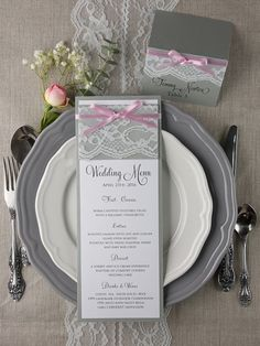 PLACE CARDS rustic and lace