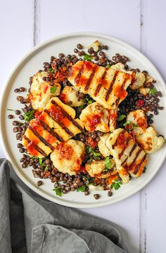 Big, bold and totally amazing. This Warm Halloumi & Lentil Salad with Harissa & Honey Dressing will make your taste buds do a little dance.